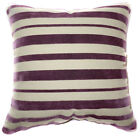 UL34a Purple Cream Stripe Velvet Style Cushion Cover/Pillow Case Cutom Size