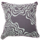 UL52a Light Grey Curve Wave Light Brown Velvet Style Cushion Cover/Pillow Case