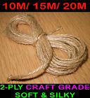 PREMIUM QUALITY SOFT 2-PLY 10M/ 15M/ 20M METRES NATURAL JUTE TWINE STRING CRAFTS