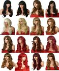 Long Wig Fashion synthetic natural full Blonde Black Brown Red cosplay party D