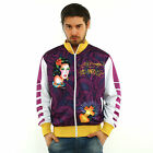 New Ed Hardy by Christian Audigier Track Jacket LOS ANGELES Purple/white, brown