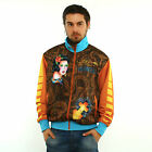 New Ed Hardy by Christian Audigier Track Jacket LOS ANGELES Brown/Yellow