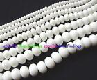 Beautiful Rondelle Faceted White China Porcelain Loose Beads 15''