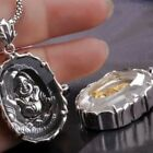 925 Sterling Silver Buddha Pendant Thai Silver White Crystal (w/NECKLACE)