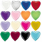 """18"""" Inch Foil Heart Balloon - 16 Colours To Choose - Helium Metallic Party"""