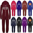 Womens Celebrity Geek Print Hooded Onesie Ladies Celeb All In One Piece Jumpsuit