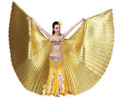 NEW ISIS WINGS BELLY DANCE COSTUME STICKS HALLOWEEN GIFT GOLD SILVER PINK BLUE
