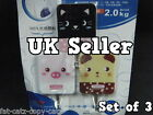 3x ANIMAL CAT BEAR FROG PIG BOYS GIRLS SELF ADHESIVE DOOR COAT HOOKS HOME OFFICE