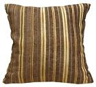 Wd29Ba Dark Brown Damask Chenille Stripes Throw Cushion Cover/Pillow Case *Size