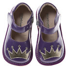 Little Blue Lamb Purple Crown Leather Squeaky Shoes Baby Toddler Girl Sz 3 - 7