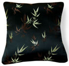 BL046a Brown Lt.Gold Bamboo leaf Rayon Brocade Pillow/Cushion Cover*Custom Size