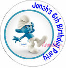 PERSONALISED BIRTHDAY SMURFS  STICKERS SEALS GIFTS FAVOURS INVITES KIDCS 1