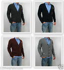 NWT Abercrombie & Fitch A&F Men Muscle Fit Blue Mountain Cardigan Sweater Jacket