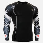 CPD_B17 Compression shirt skin-tight base layer training gym MMA workout fitness