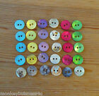 8 Novelty Buttons - round - Mother of Pearl - Baby/Dolls - Kids - Sewing/Cards