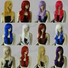15 Color Hair Heat Resistant 28 in. Long Big Wavy Cosplay Wig Free Shipping 604G