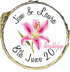 PERSONALISED WEDDING DAY PINK LILY MINT CHOCOLATES FAVOURS SWEETS WDMC 11