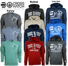 MEN'S CROSSHATCH SWEATSHIRT HOODY JUMPER TOP LONGSLEEVES - S-M-L-X-XXL