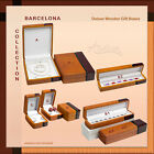 Barcelona Deluxe Wooden Gift Box for Bracelet Ring Watch Necklace Pen Earring