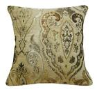Wd41Aa Light Tan Damask Chenille Flower Throw Cushion Cover/Pillow Case *Size