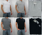 NWT Abercrombie & Fitch A&F 2013 Men Muscle Fit Gray Peak Henley Tee T Shirt