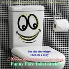 Smiley Face Toilet Wall Sticker Decal Mural Art Decor Funny Bathroom Gift Car 4t