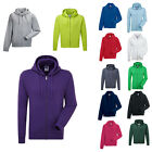 New RUSSELL Unisex Authentic Zip Up Hooded Sweatshirt Jacket 6 Colours XS-3XL