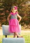 Mud Pie Wild Child Pink Leopard Print Dress Size 3M to 5T NWT