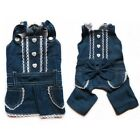Demin Jeans Dog Dress Dog Jumpsuits Pajamas Pet Apparel Dog Clothes XS S M L XL