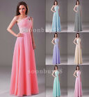 Long Women's Bridesmaid Evening Dress Party Formal Prom Gown 6 8 10 12 14 16
