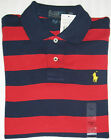 AUTHENTIC POLO by RALPH LAUREN MEN'S CUSTOM FIT COTTON POLO SHIRT IN RED & NAVY