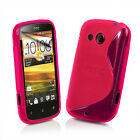 NEW HTC DESIRE C GEL CASE + FREE SCREEN PROTECTOR