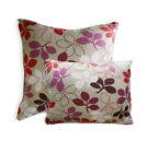AF71a Fuschia Purple Flower Cotton Canvas Cushion Cover/Pillow Case*Custom Size*