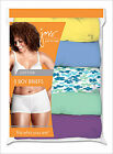 5 Pair Just My Size JMS Womens Plus Size 9-13 Cotton Boy Brief Panties Assorted