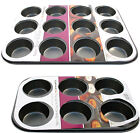 NEW NON STICK 6 OR 12 CUPCAKE TRAY BUN MUFFIN PAN MOULD TIN PAN BAKING UTENSIL