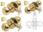 BALA Polished Brass Ball Knobset Door Knobs Sets PASSAGE, PRIVACY or ENTRANCE
