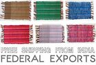 Hand loom Table Top Runner Placemats Mini Rag Rug Door Mat Seat Cover Indian