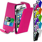 FLIP WALLET LEATHER CASE COVER FITS APPLE IPHONE 5 FREE SCREEN PROTECTOR