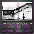' Banksy Balloon Girl ' Graffiti Art Canvas Box More Style & Size ~ Purple