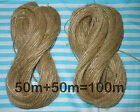 10m, 20m, 50m, or 100m Thin Natural Jute Twine Hessian String Crafts Shabby Chic