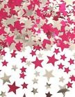 Star Table Birthday Confetti Party Decoration Silver/Pink and Silver/Blue