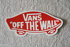 VANS OFF THE WALL Skateboard Scooter Bike Travel Case Wall Vinyl Sticker 1 PC