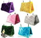 Parrot Hammock Happy Hut Hideaway Fluffy Cave Cage Snuggle Tent Bunk Bird Toy