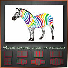 ' Funky Zebra Colorful ' Animal Wall Art Canvas Box  ~ Ready to Hang