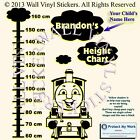 Height Chart Thomas The Tank Wall Stickers Personalised Kids Name BEST DEAL! CM