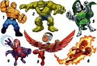 SUPER HERO SQUAD STICKER WALL DECAL OR IRON ON TRANSFER T-SHIRT FABRICS lot SH