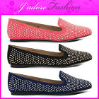 NEW LADIES DOLCIS FLATS STUD DETAIL SLIP ON BALLERINAS SHOES SIZES UK 3-8