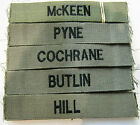 Name Tapes in Olive Green with Black  Embroidery  Pack of 6 - British Army