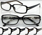 L157 Classic Plastic Reading Glasses Unisex Style Spring Hinges Thin Frame +3.50