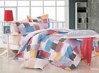 Queen Size Bed Doona/Quilt/Duvet Cover/Sheet Set Stylish 100% Satin Cotton